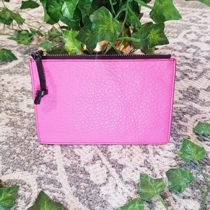 Genuine leather fossil pink pouch mini wallet